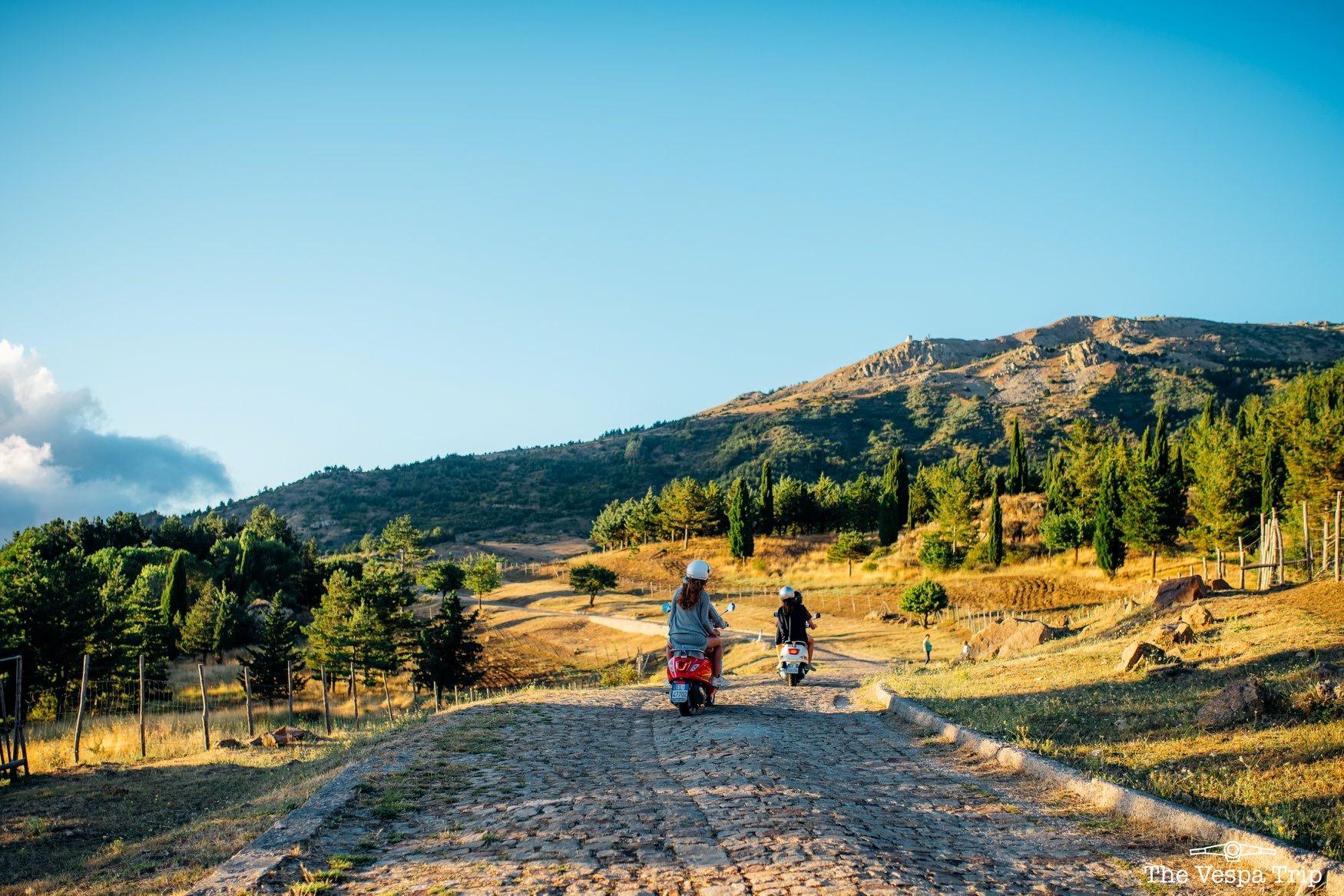 Passeggiare in moto